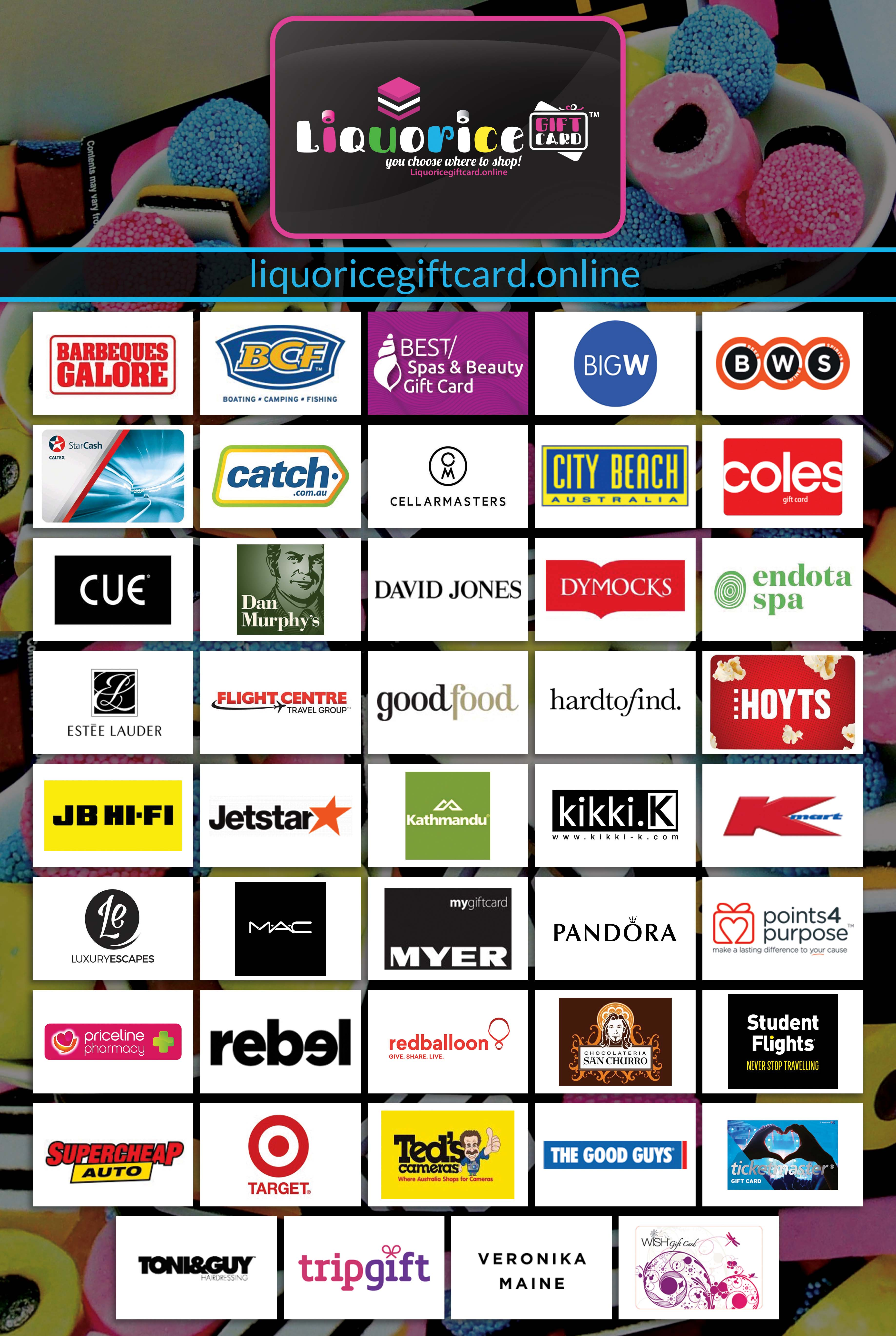 Liquorice Gift Card - You choose where to shop!